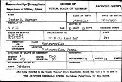 PFC Lester Grant Rayhorn