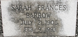 Sarah Frances <i>Barrow</i> Jackson