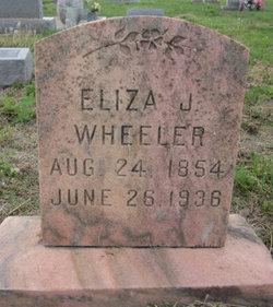 Elizabeth Jane Eliza <i>Switzer</i> Wheeler