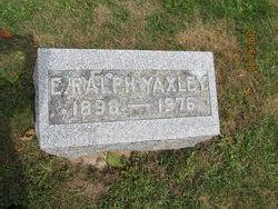 Edward Ralph Yaxley