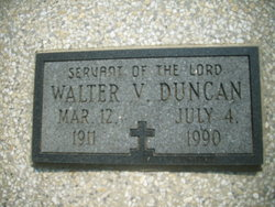 Rev Walter Vernon Duncan