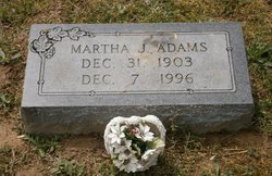 Martha Jane Jane <i>Rogers</i> Adams