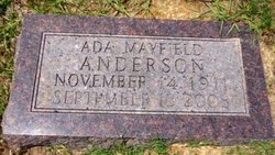 Ada Louise <i>Mayfield</i> Anderson
