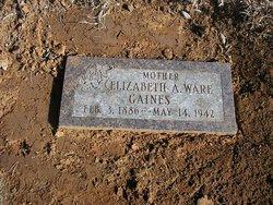 Elizabeth A <i>Ware</i> Gaines