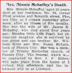 Minnie <i>Kent</i> Mehaffey