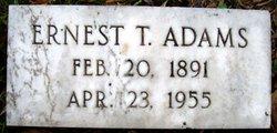 Ernest T Adams