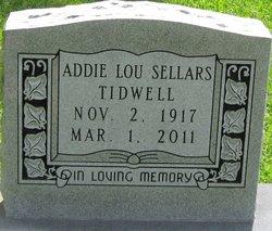 Addie Lou <i>Sellars</i> Tidwell