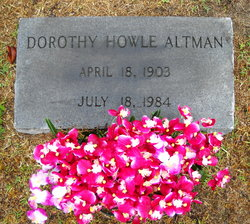 Dorothy <i>Howle</i> Altman