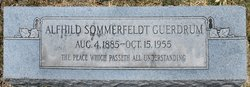 Alfhild Sommerfeldt <i>Schmidt</i> Guerdrum