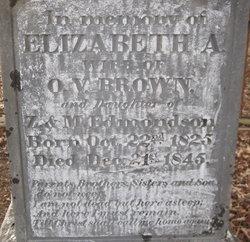 Elizabeth A <i>Edmondson</i> Brown