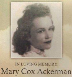 Mary Dubose <i>Davis Cox</i> Ackerman