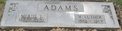 Mertie L. <i>Farr</i> Adams