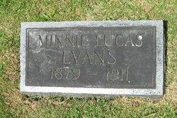 Minnie <i>Lucas</i> Evans