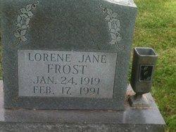 Lorene Jane <i>Crump</i> Frost