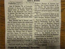 June E <i>Carlson</i> Brooks