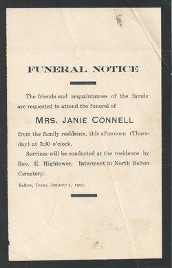 Nancy Jane Janie <i>Howlett</i> Connell