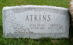 Anna Elizabeth <i>Tatro</i> Atkins
