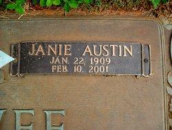 Janie Elizabeth Lizzie <i>Austin</i> McElwee