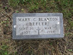Mary C <i>Blanton</i> Beeler