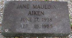 Jane <i>Mauldin</i> Aiken
