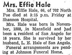 Effie Hale