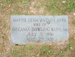 Mattie Lena <i>Watson</i> Barr