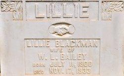 Lillie <i>Blackman</i> Bailey
