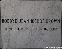 Bobbye Jean <i>Bishop</i> Brown