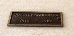 Dorothy A Adamson