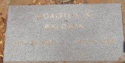 Dorothy V Baldwin