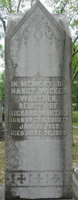 Nancy <i>Wicker</i> Warthen