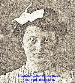 Charlotte Frances Lottie <i>Piester</i> Knott