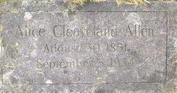 Alice <i>Cleaveland</i> Allen