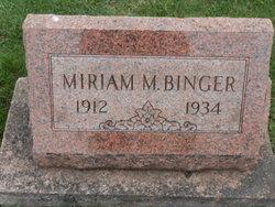 Miriam Maxine <i>Conine</i> Binger