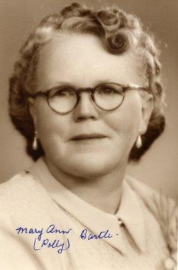 Mary Ann Polly <i>Wilson</i> Bartle