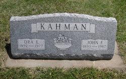 Ora Ethel <i>Wildt</i> Kahman