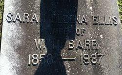 Sarah Elzena <i>Ellis</i> Barr