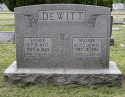 Alice <i>Smith</i> DeWitt