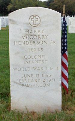 Harry McCorry Henderson, Sr