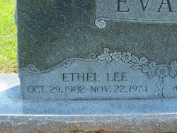 Ethel Lee <i>Griffin</i> Evans