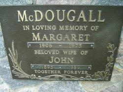 Margaret <i>?</i> McDOUGALL