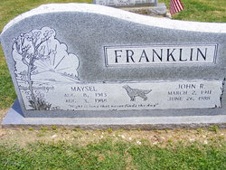 Maysel Irene <i>Reed</i> Pritchard Franklin