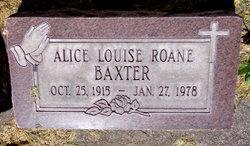 Alice Louise <i>Roane</i> Baxter