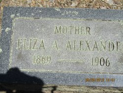 Elizabeth Amelia Eliza <i>Wiltison</i> Alexander