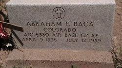 Abraham E Baca