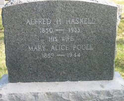 Mary Alice <i>Poole</i> Haskell