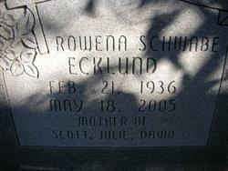 Rowena <i>Schwabe</i> Ecklund
