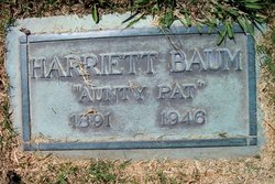 Harriett Hudson Aunty Pat <i>Manning</i> Baum