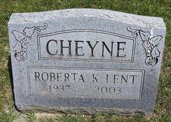 Roberta <i>Lent</i> Cheyne