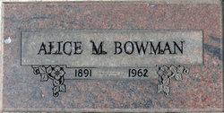 Alice M Bowman
